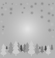 white silhouettes of trees against a gray vector image vector image