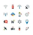 Wireless Technology Flat Icons Set vector image