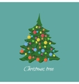 Christmas tree with garlands and balls vector image
