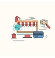modern thin line flat design of buy online vector image