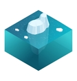 Isometric Underwater view of iceberg with vector image