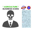 deadly manager icon with agriculture set vector image