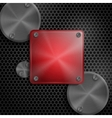 Abstract Technology Metal Texture Button vector image