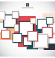 abstract blue red colorful square frame vector image vector image