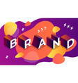 abstract brand banner isometric style vector image vector image