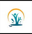 abstract healthy people logo design vector image vector image