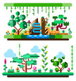 african tropical jungle and landscape made with vector image
