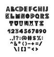 alphabet in scandinavian vector image vector image