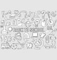 back of school objects background drawing by hand vector image vector image