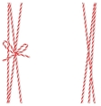 Background with bakers twine bow and ribbons vector image