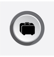 Baggage icon Hand luggage for traveling Airport vector image vector image