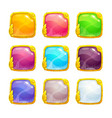 beautiful colorful square buttons vector image vector image