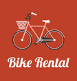 bike rental in retro style vector image vector image