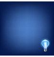Blue Bulb With Background vector image vector image