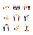 businessman working set in flat style design vector image