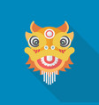 chinese dancing lion vector image vector image