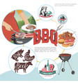colorful flat bbq party concept vector image vector image