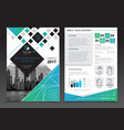 company report brochure templates vector image vector image