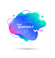 creative design fluid banner with futuristic shape vector image vector image