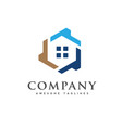 creative real estate logo vector image vector image