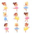cute ballerinas girls in tutus and pointe