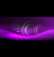dark abstract background with glowing neon circles vector image vector image