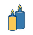 decorative candles isolated vector image vector image