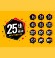 event festive anniversary labels set vector image vector image