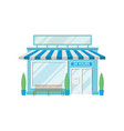 facade of shop building 24 hour front view of vector image vector image