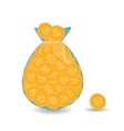 Full bag plus one Gold Coins - Contribution to vector image vector image