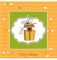 funny birthday card with dog vector image