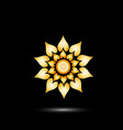 Gold bright flower icon