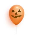 helloween balloon 3d realistic lantern jack face vector image