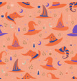 magic witch hats each with a unique pattern vector image vector image