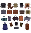 man bag manlike fashion handbag or business vector image