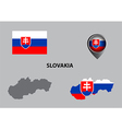 Map of Slovakia and symbol vector image