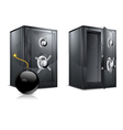 metal safes vector image vector image