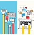 modern flat design social network vector image vector image