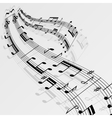 Music notes wave background vector image vector image