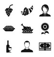 partying icons set simple style vector image