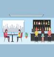 people interior coffee shop or bar restaurant vector image