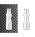 plastic bottle mockup realistic curvy flask vector image vector image