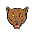 Puma Woodcut Retro vector image vector image