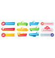 recommended banner best recommend badge vector image