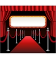 Red carpet movie premiere elegant event red vector image