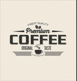 retro vintage coffee design background 0001 vector image vector image
