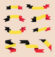 ribbons or banners in colors of belgian flag vector image vector image