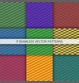 seamless geometric patterns set vector image
