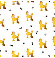 seamless pattern with cute cartoon gold dog vector image vector image