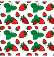 seamless pattern with strawberries design element vector image vector image